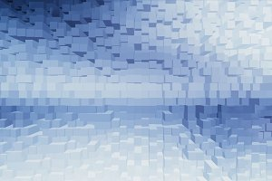 Horizontal white cubes business presentation abstract background