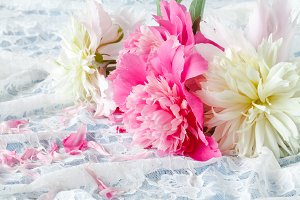Light pink double Peonies