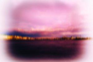 Horizontal Saint Petersburg vintage vivid pink abstraction