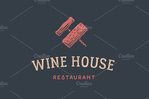 Label Of Wine Restaurant