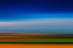 Horizontal vivid vibrant simple empty blank landscape in motion