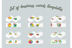 Set of business cards templates