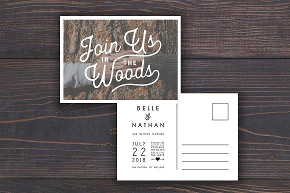 Save The Date Wedding Postcard