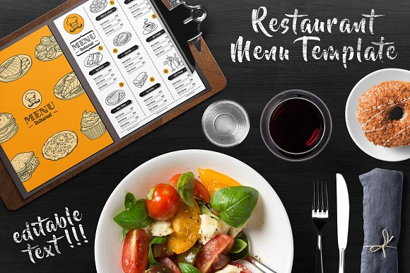 Restaurant Menu Flyer Template