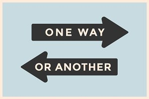 Vintage arrows One Way or Another