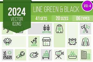 2024 Vector Green&Black Icons (V4)