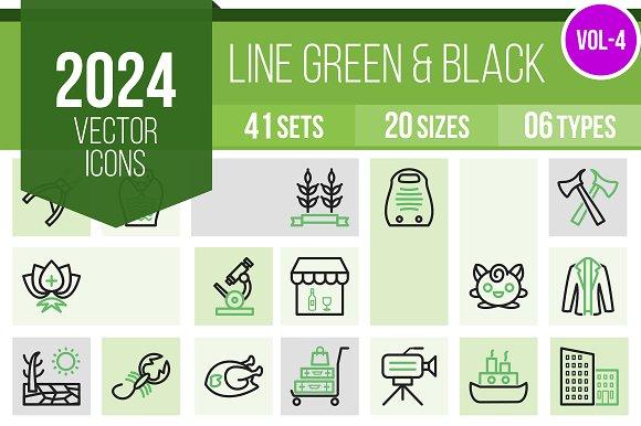 2024 Vector Green Black Icons