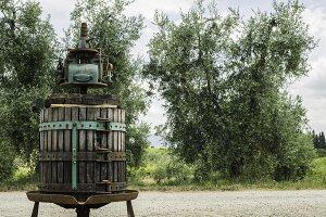 Vinatge olive press