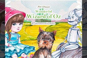 Wizard of Oz Clipart Set