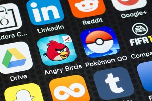 angry birds social media