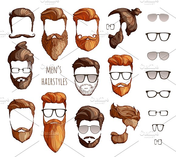 Hairstyles Beards Glasses