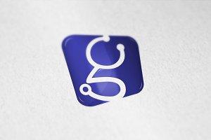 G Letter stethoscope logo icon