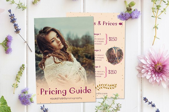 Boho - Photography Pricing Guide
