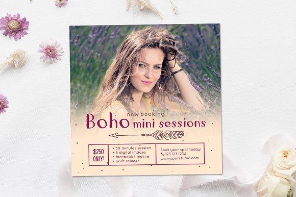 Boho Mini Sessions Marketing Board
