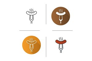 Sausage on fork icon