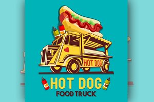 Hot Dog Logo Vector