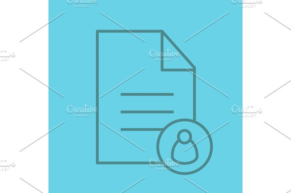Personal document color linear icon in Graphics
