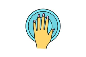 Manicure bowl color icon
