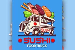 Japanese Sushi Sashimi Logo