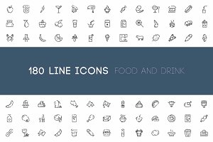 180 food and drink line icon
