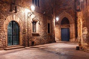 Medieval street in Barri Gothic Quarter, Barcelona
