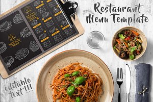 Restaurant Dark Menu Flyer Template