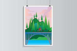 Bicycle traveling.