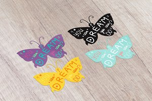 Motivation Lettering In Butterfly