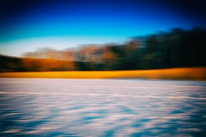 Winter crops horizon forest landscape abstraction