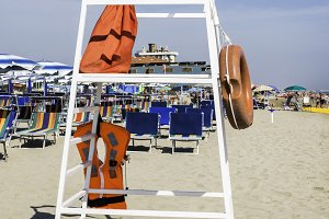 Safety equipment on the beach