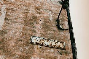 Grunge street blank sign