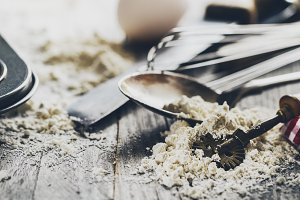 Baking Cooking Concept with Cutlery