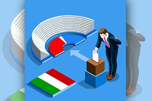 Italy Election Italian People Vote