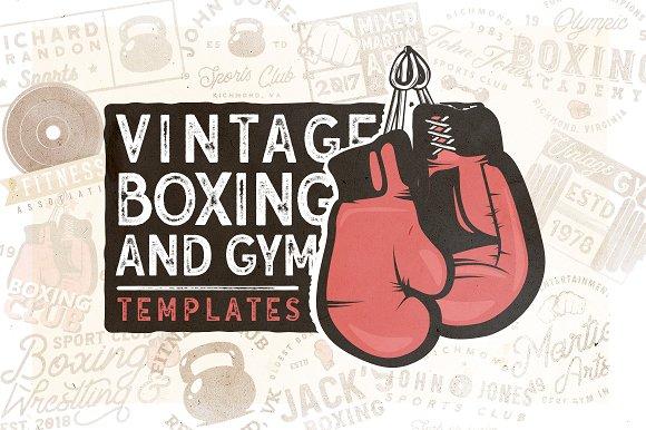 20 Vintage Boxing Gym Logos