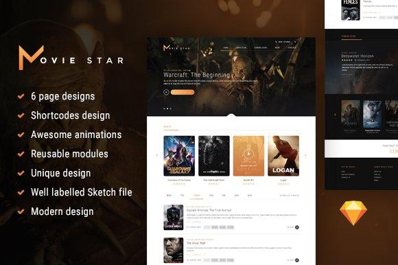 Movie Star HTML Template
