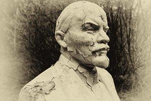 Lenin plaster cast closeup