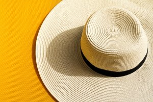 Summer Travel Vacation Concept Hat