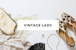Vintage Lady - styled flat lay