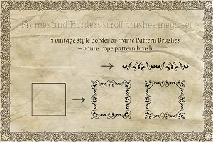 Vintage Border Frames Brushes Pack