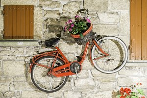 Old Italian bicycle