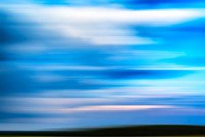 Horizontal vivid motion blur abstract landscape background