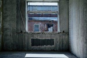 Inside abandoned factory