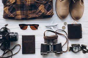 Stylish men set to travel