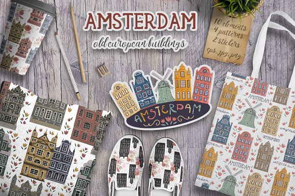 Amsterdam Buildings Set