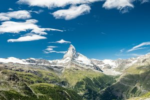 Matterhorn peak in summer day
