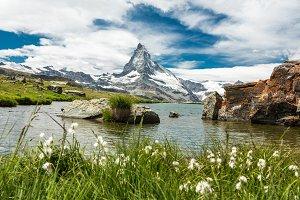 Matterhorn and Stellisee lake