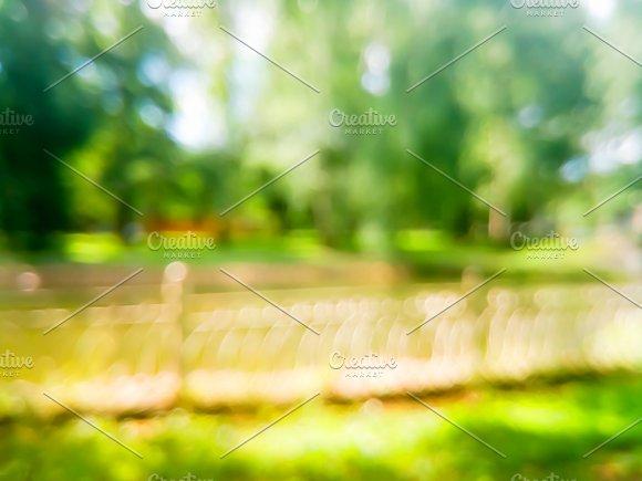 Horizontal Summer Park Bokeh Background