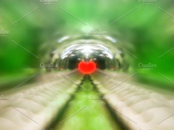 Spheric Park Heart Bokeh Background