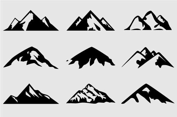 Mountain Shapes For Logos Vol 3