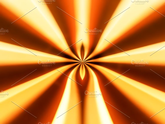 Sunny And Orange Abstract Bokeh Background